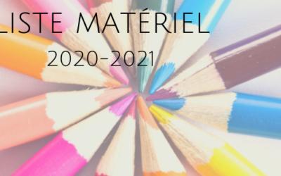 Liste matériel 2020-2021
